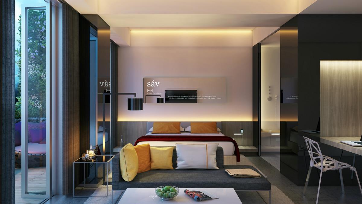 令人惊叹的卧室照明装修设计效果图图片