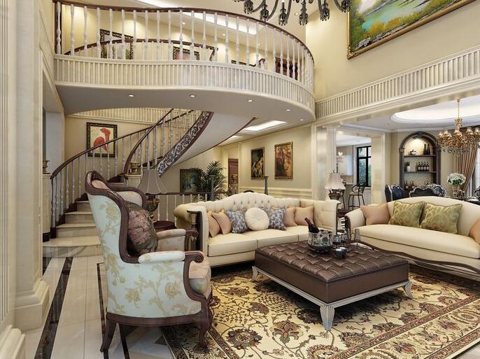 欧式别墅装修样板房风格体现元素