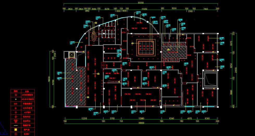办公室装修设计图纸_平面布置图