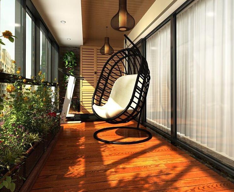 阳台装修风格之欧式风格     欧式风格的阳台一般都是大户型的阳台