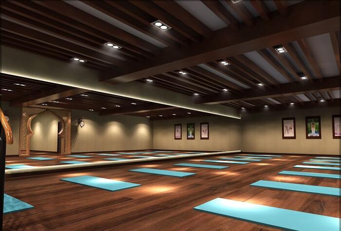 瑜伽会所设计_瑜伽会所装修效果图