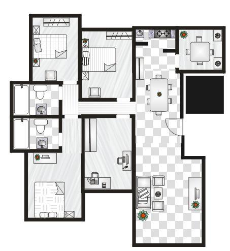 房屋餐厅装饰设计图的三个流程