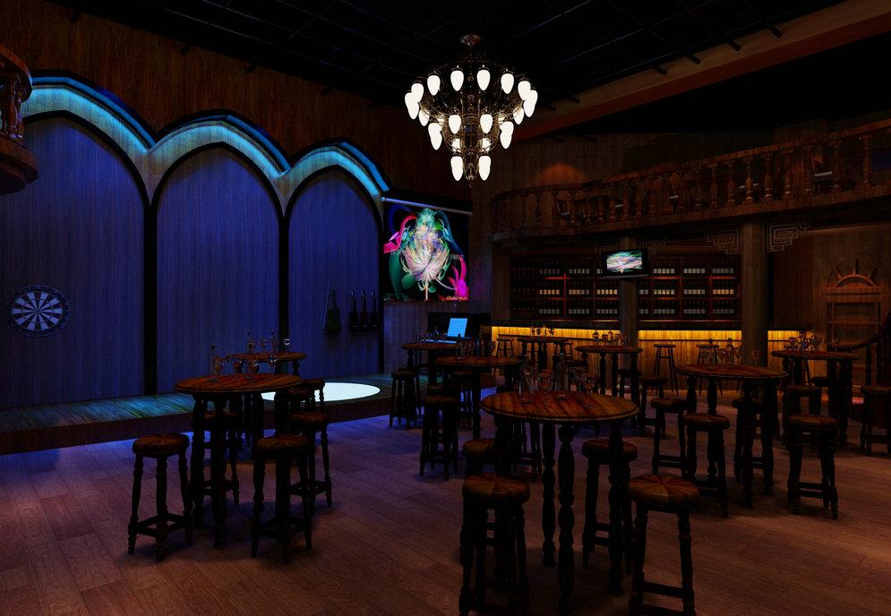 而且实用性的设计比英式酒吧更容易.