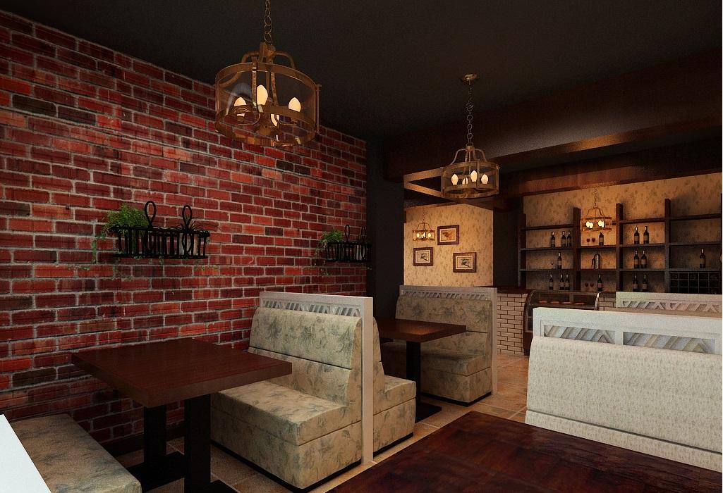 田园风格咖啡厅装修