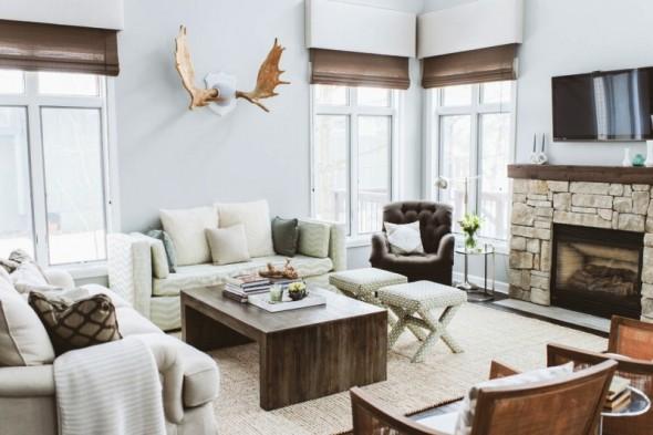 乡村折衷主义风格的室内家居装修装饰设计